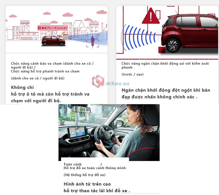 An toàn trên xe Toyota Raize 2021