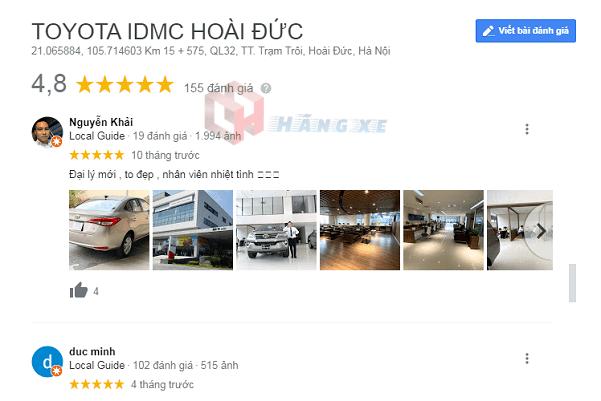 Khách hàng đánh giá Toyota Hoài Đức