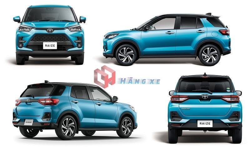 Tổng quan thiết kế ngoại thất xe Toyota Raize 2021